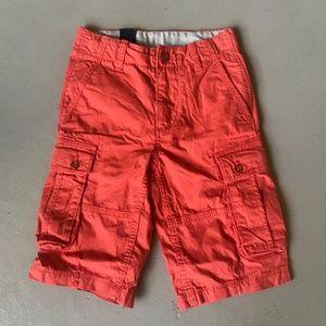 GAP Cargo Shorts Bright Orange Size 8 NWT